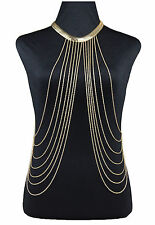 Latest Women Sexy Gold Body Chains Collar Choker Necklace Belly Beach Jewelry