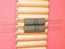2 x NOS 0.1uF .1uF 400V 5% KBG-M1 PIO Paper-in-Oil Axial Capacitors Tube Amp