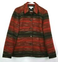Coldwater Creek Women's Small Long Sleeve Button Up Lined Collared Jacket