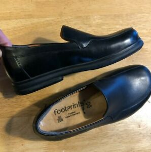 Footprints by Birkenstock PAVIA Womens Loafer Black Leather Sz 36 EU 5 US Narrow