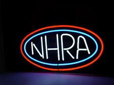 "Nhra Car Racing Beer Pub Bar Real Glass Handmade Neon sign 17""×14"" Q236S"