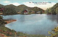 Green Mountain Falls, Co Colorado The Lake & Pergola Ute Pass c1940's Postcard