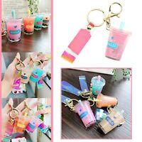 Cute Coloured Mini Keyring Boba Bubble Tea Cup Charm Design For Phones Handbag