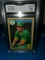 1987 Topps #620 Jose Canseco Rookie Graded GMA 10 💎MINT ! CLASSIC ORIGINAL!🔥⚾️