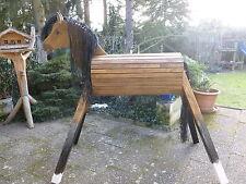 100cm Holzpferd Holzpony Voltigierpferd Spielpferd Pferd Pony mit Maul  NEU !!