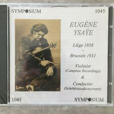 EUGENE YSAYE: Complete Recordings (UK Symposium 1045 / OVP)