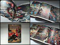 Japanese 1970s Ukiyoe Photo Samurai Book Vtg Armor Sword Flag Fight Horse o323