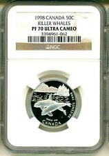 1998 Canada 50c Killer Whales NGC PF70 Ultra Cameo