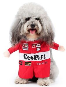 Pet Dog Cat Racing Driver Halloween Party Fancy Dress Costume Outfit Clothes