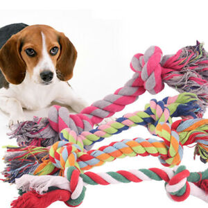 17 cm Dog Grinding Teeth Rope Cotton Braided Bone Chew Knot Toy Supplies Random