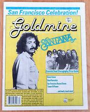 March 24 1989 Carlos Santana & Grateful Dead On Cover Goldmine Magazine + Photos