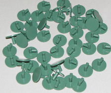 LEGO LOT OF 50 NEW SAND GREEN ROUND SHIELDS MINIFIGURE PARTS