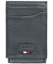 SHIPPING AUTHENTIC TOMMY HILFIGER SLATE GREY MEN/'S LEATHER WALLET NEW  FREE UK