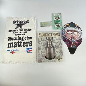 Lot Dallas Stars 1999 stanley cup final program Mask Towel ticket Ed Belfour NHL
