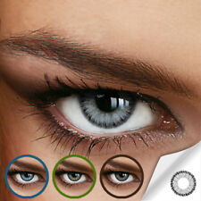 Farbige Kontaktlinsen Diamond Gray (Stärke von +5.00 DPT bis Minus -12.00 DPT)