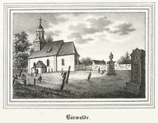 Bärwalde (Radeburg) - Chiesa-CHIESE-Galleria-LITOGRAFICO 1841