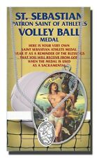 St.Sebastian Volleyball Medal Necklace with two free prayer cards