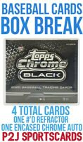 Topps 2020 Chrome Black Baseball Hobby Box Break - 1 Random Team⚾️MLB Break 4178