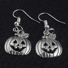 925 Silver Plated Hook Halloween Pumpkin Sexy Pageant Earring 2pair