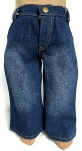 Stone Washed Denim Jean Pants for 18 inch American Girl Doll Clothes