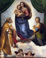 Raphael The Sistine Madonna Renaissance Fine Art Print on Canvas Giclee Small