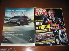 AUTOSPRINT 2011/15=GP MALESIA=VETTEL=AMARCORD TARGA FLORIO=PUBBLICITA' OPEL