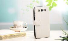 Luxus HTC One X   Tasche Schutz Hülle  Case Cover Etui Weiß