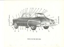 1949 Pontiac Chieftain Streamliner Four Door Sedan NOS Exterior Body Parts Guide