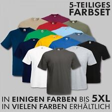 Unifarbene Fruit of the Loom Herren-T-Shirts