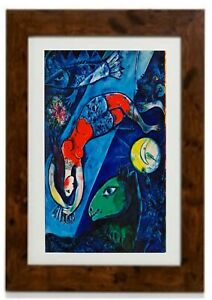Blue Circus Framed Print by Marc Chagall