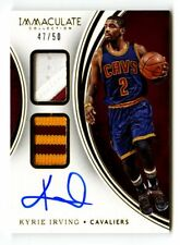 2015-16 Kyrie Irving Immaculate Dual Patch Auto /50 Prime Cavs Signed DPA GU SSP