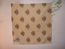 "Highland Court ""Rose Boquet"" embroidered remnant for craft color natural/pink"