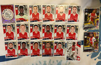 TOPPS UEFA CHAMPIONS LEAGUE 2020/21 SET OF ALL 20 AJAX STICKERS INC FOILS