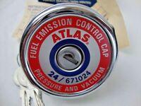 ATLAS Emission Control Locking Gas Cap 24 / 671024 USA Non-Vented 2 Keys VTG New