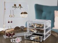 Boîte à bijoux coffret à bijoux maquillage rangement montres bagues