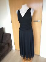 Ladies Dress Size 12 BHS Black Net Fit And Flare Party Evening Wedding