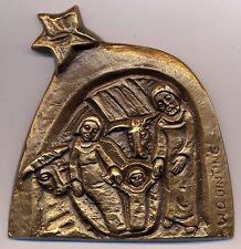0619/17/9 Bronzeplakette, ALBERT-WILHELM QUINTING, Weihnachten, heilige Nacht