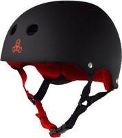 Triple 8 Helmet Black Rubber/Red S