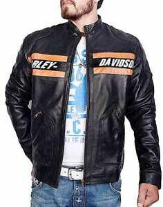Men's WWE Black Leather Harley Davidson Bill Goldberg Motorcycle Jacket