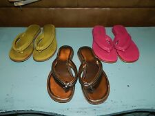 Apostrophe Leather Upper Black Sandals Women Shoes Size 6 Lot of 3