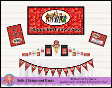 Personalised Roblox Birthday Party Decorations Favours