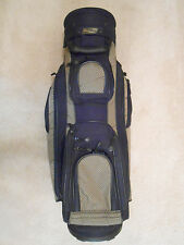 BAG BOY CART BAG - BLACK/OLIVE - 12 ZIPPERED COMPARTMENTS - GOOD CONDITION!