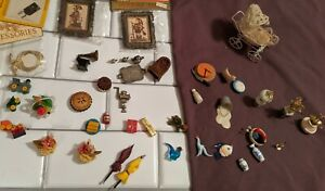 VINTAGE Cute LOT of MINIATURES  Dollhouse Furniture Accessories