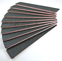 "10pcs Black Jumbo Callus Remover 60/60 Grit Pink Center 7x1"" Sanding File"