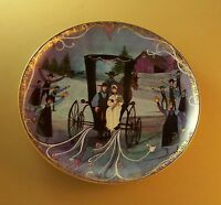 P. Buckley Moss WEDDING DAY Art Plate 1995 with Post Card & Box Rare HTF Lovely!
