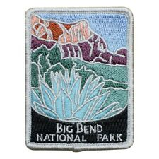 """Big Bend National Park Patch - Texas, Official Traveler Series 3"""" (Iron on)"""