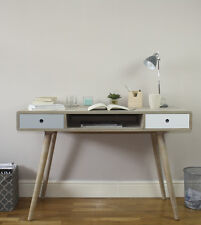 Contemporary Retro Style Desk Console Table With Drawer Hallway Bedroom Office
