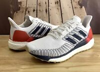 New Adidas Solar Boost 19 Running Shoes Red White Blue EG2362 Men's Size 10.5