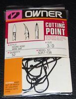 Size 3//0 Pro Pack of 52 Owner 5304-138 60° Deep Throat Wide Gap Jig Hooks