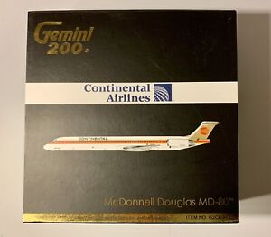 Gemini Jets 1:200 Continental MD-80 N15841 G2COA132 Meatball livery